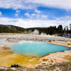It's smelly, but nice name: Biscuit Basin @ Yellowstone NP :)