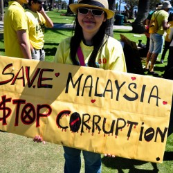 Save Malaysia! Stop Corruption! Bersih!