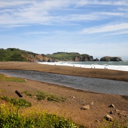 @ Rodeo Beach, a very nice beach, away from the busy San Francisco city